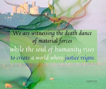 We are witnessing the death dance of material forces