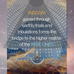 Wisdom gained through earthly trials and tribulations