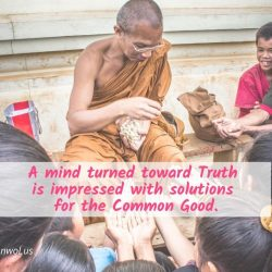 A mind turned toward Truth is impressed with solutions