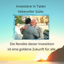 Investiere in Taten
