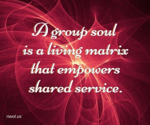 A group soul is a living matrix that empowers shared service.