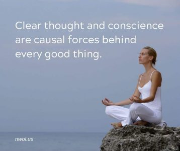 Clear thought and conscience are causal forces