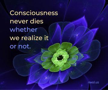 Consciousness never dies