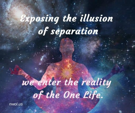 Exposing the illusion of separation we enter the reality of the One Life.