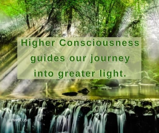 Higher consciousness guides our journey into greater light.