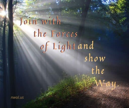 Join with the Forces of Light and show the Way.