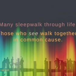 Many sleepwalk through life