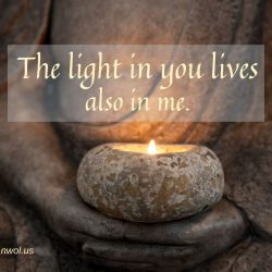 The light in you lives also in me