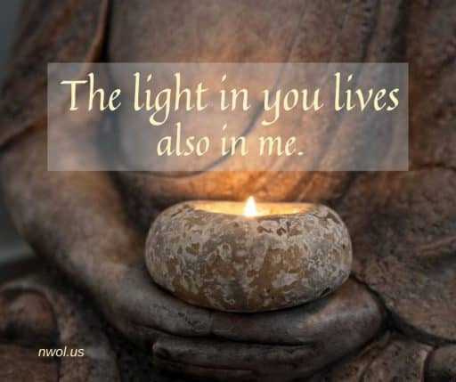 The light in you lives also in me.