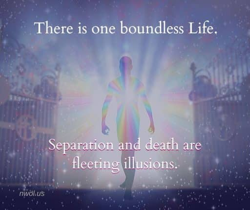 There is one boundless Life. Separation and death are fleeting illusions.