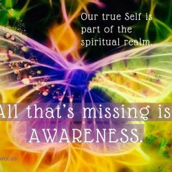 Our true self is part of the spiritual realm