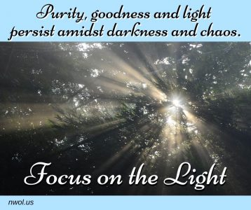 Purity goodness and light persist