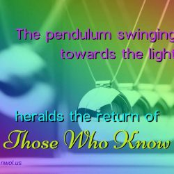 The pendulum swinging towards the light