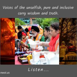 Voices of the unselfish pure and inclusive