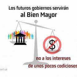 Los futuros gobiernos serviran