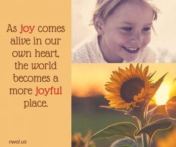 As joy comes alive in our own heart