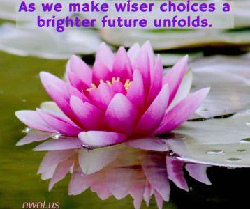 As we make wiser choices