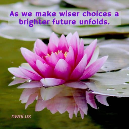 As we make wiser choices, a brighter future unfolds.