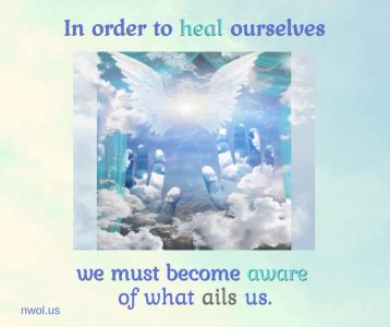 In order to heal ourselves
