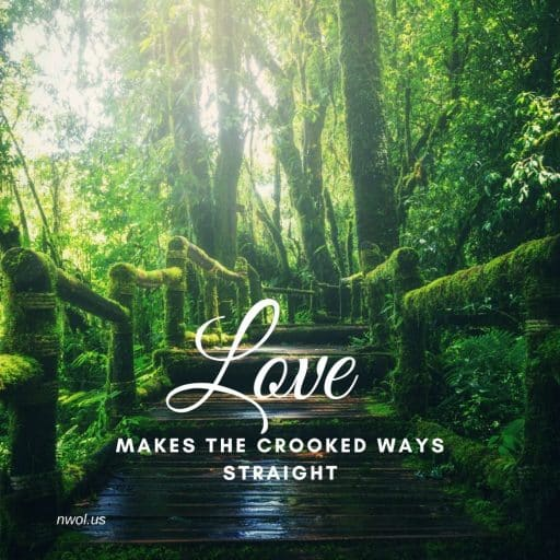 Love makes the crooked ways straight.