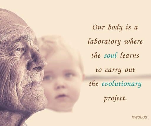 Our body is a laboratory where the soul learns to carry out the evolutionary project.