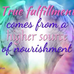 True fulfilment comes from a higher source