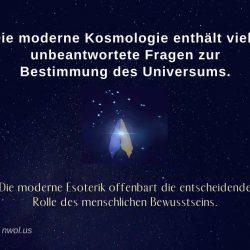 Die moderne Kosmologie enthalt viele