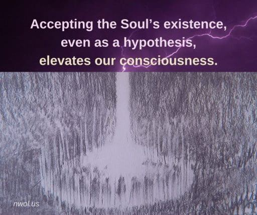 Accepting the Soul's existence as a hypothesis, elevates our consciousness.