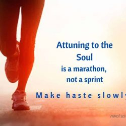 Attuning to the Soul is a marathon