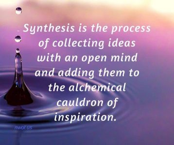 Synthesis is the process of collecting ideas