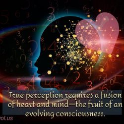 True perception requires a fusion of heart and mind
