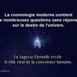La cosmologie moderne contient