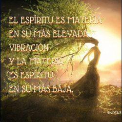 El espiritu es materia
