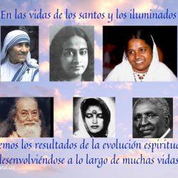 En las vidas de los santos y los iluminados