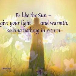 Be like the sun