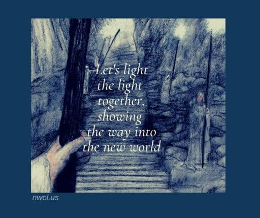 Let's light the light together, showing the way into the new world.