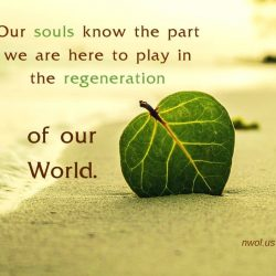 Our souls know the part