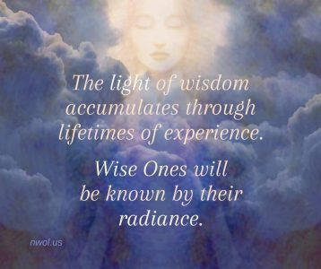 The light of wisdom accumulates through lifetimes
