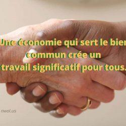 Une economie qui sert le bien