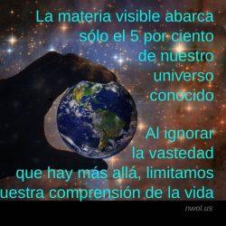 La materia visible abarca