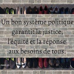 Un bon systeme politique