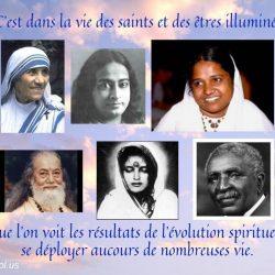 Cest dans la vie des saints et des etres illumines