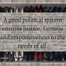 A good political system ensures justice