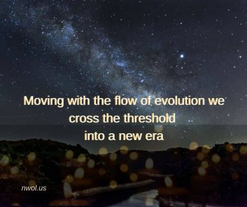 Moving with the flow of evolution