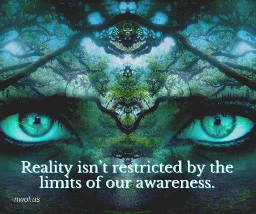 Reality isn't restricted by the limits of our awareness.