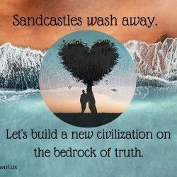 Sandcastles wash away
