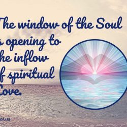 The window of the Soul is opening