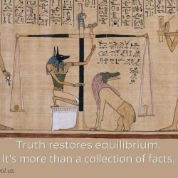 Truth restores equilibrium