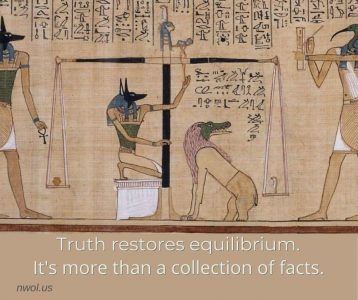 Truth restores equilibrium