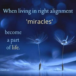 When living in right alignment